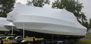 Shrink wrap available for boats of all sizes.
